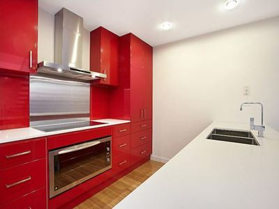 Red Kitchen Cabinet Installation and Renovation Bunja Melbourne